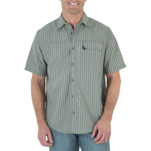 Wrangler Other - Wrangler Big & Tall 2XT Plaid Utility Shirt Green